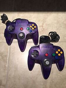 Funtastic/Clear Purple Nintendo 64 controllers