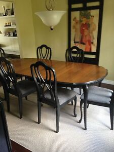 Dining table, Server and 6 Chairs