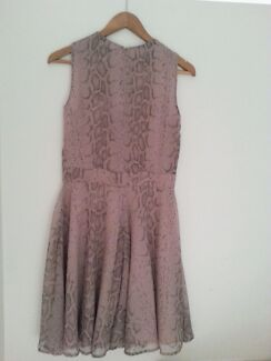 French Connection pink and taupe snake print dress size 8 as new Spring Hill Brisbane North East Preview
