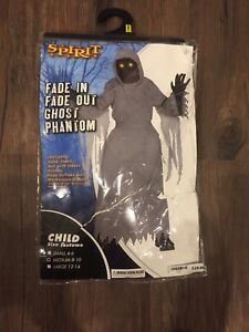 Fade in and fade out ghost costume size 8-10