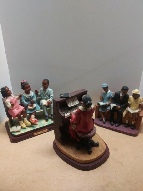 Black Church Pew Figurines