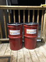 Winter sand / safety sand barrels