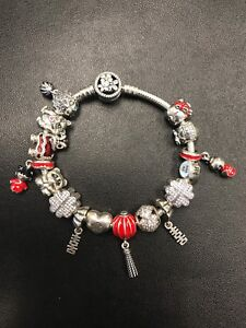 Pandora Asian inspired bracelet with charms. Size 19