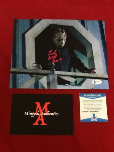 TED WHITE AUTOGRAPHED SIGNED 8x10 PHOTO! JASON! FRIDAY THE 13TH! BECKETT COA!