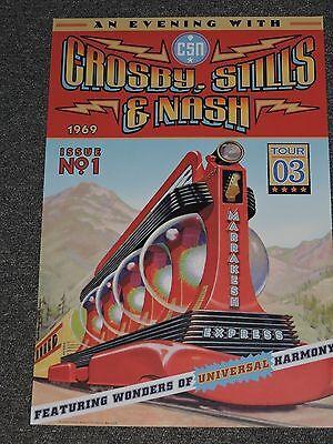 Crosby Stills  & Nash Concert Poster 2003 Marrakesh Express