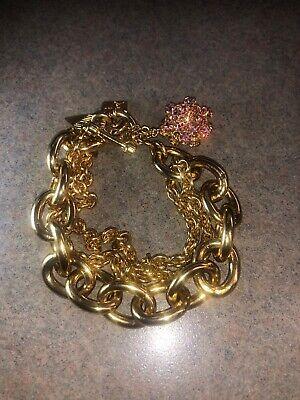 RODRIGO OTAZU Gold Chain Link Bracelet , gebruikt tweedehands  verschepen naar Netherlands