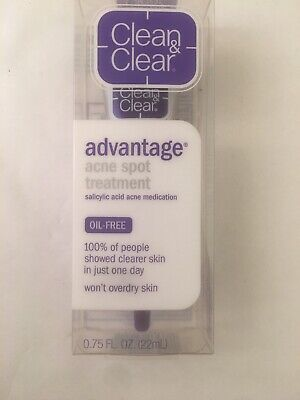 "Clean & Clear""advantage"" acne spot treatment-(OIL FREE).75 Fl.Oz. Exp. 07/21"