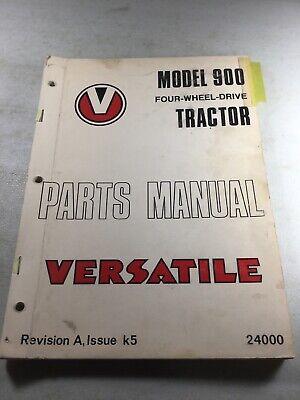 Versatile Model 900 Tractors Parts Manual Original