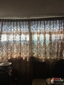 Two custom made curtains