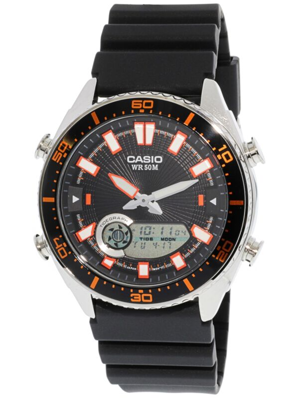 Casio Men's Ana-Digi AMW720-1AV Silver Resin Japanese Quartz Fashion Watch