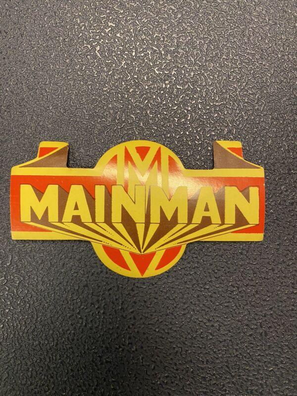 David bowie Mainman Original Decal Sticker