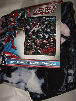 Justice League Evil Villains Joker Riddler Harley Quinn Bane Plush Throw Blanket (Evil Harley Quinn)