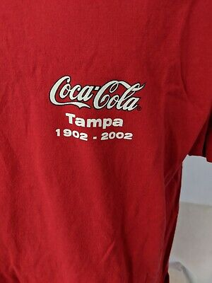 Coca-Cola Tampa 1902-2002 t-shirt mens XL