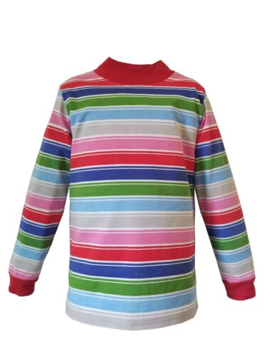 Mens Rainbow Striped Nice Guy T-Shirt Cosplay Costume Chucky Clown