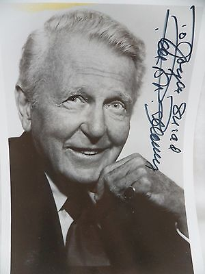 Ralph Bellamy Trading Spaces The Awful Truth Autographed Promo Photo Vintage