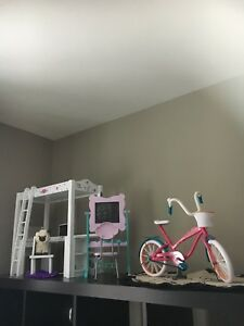 Journey Girl /American Girl - desk/ bed, school set& bike