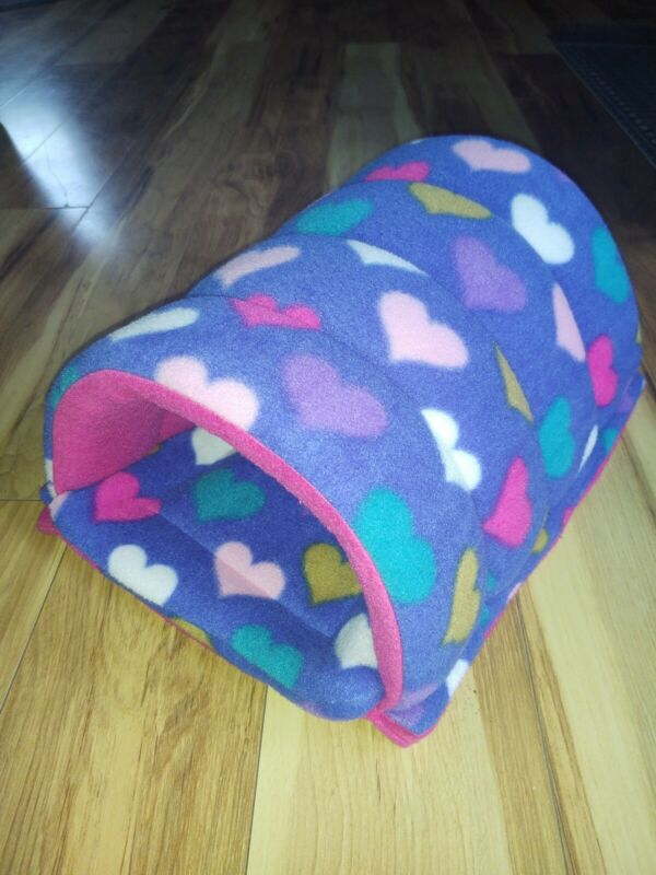 Guinea Pig/Pet Fleece TUNNEL with reversible Insert/Pad Uhaul bedding