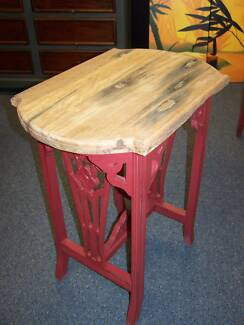 UNIQUE - SLEEPER WOOD TOP SIDE TABLE Kent Town Norwood Area Preview