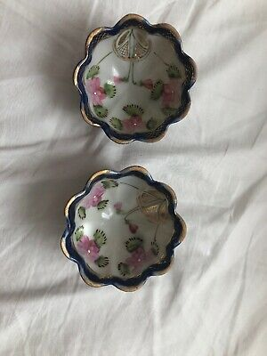 Pair of Antique Nippon Hand Painted - Painted Bowls