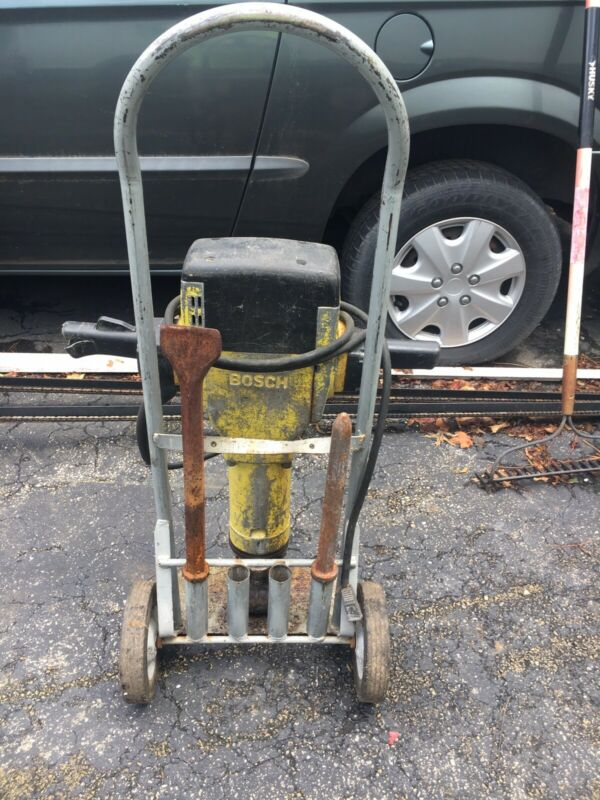 BOSCH JACK HAMMER AND 2 CHISELS AND CART
