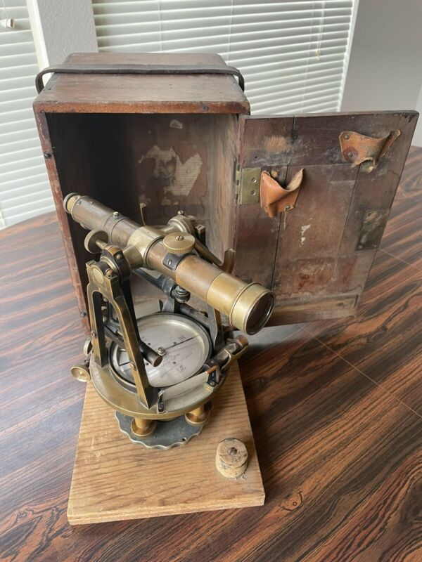 CL Berger & Sons (Buff & Berger, Boston) Surveyors' Transit Instrument W/ Case