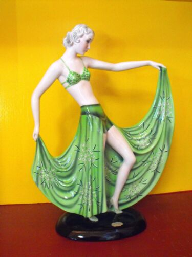 Genuine Goldscheider Dancer by Stefan Dakon, rare original label, well marked!