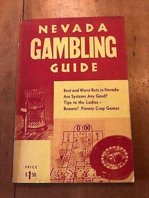 "VINTAGE 1961 ""NEVADA GAMBLING GUIDE"" GAMBLING ILLUSTRATED PAPERBACK BOOK"
