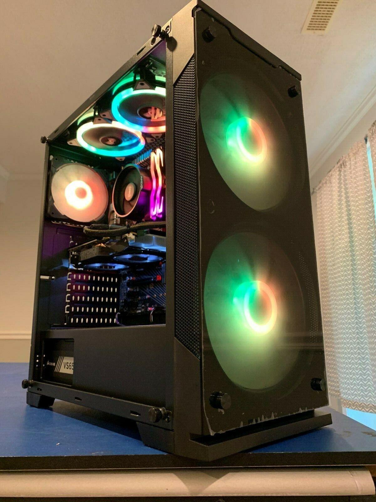 CUSTOM BUILT GAMING COMPUTER/PC RYZEN 4-CORE GTX 1060 8GB DD