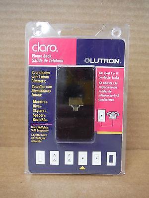 Lutron Claro Phone Jack CA-PJH-BL