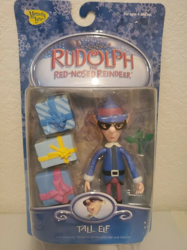 RUDOLPH & THE ISLAND OF MISFIT TOYS 2002 TALL ELF WITH PRESENTS, MISTLETOE