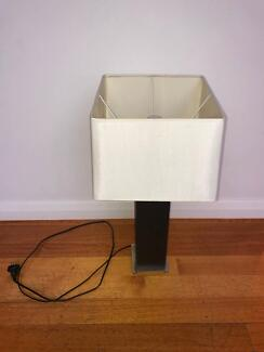 Square shaded table lamp