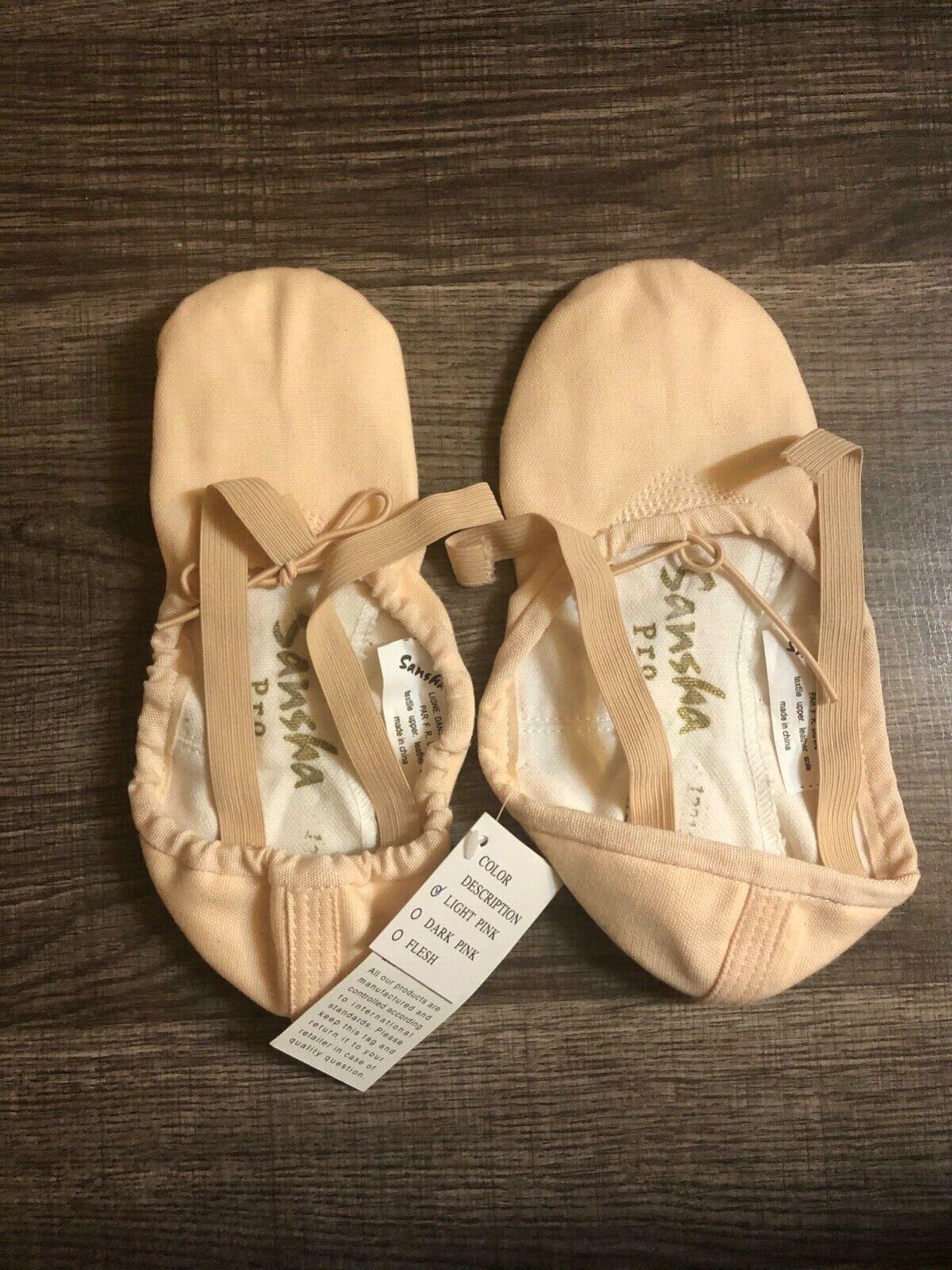 Sansha Pro 1 Canvas Ballet Slipper, Womens Sz 7, Width M, Br
