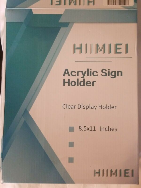 Set of 12 - Acrylic sign holders 8.5 x 11 with 3M Tape