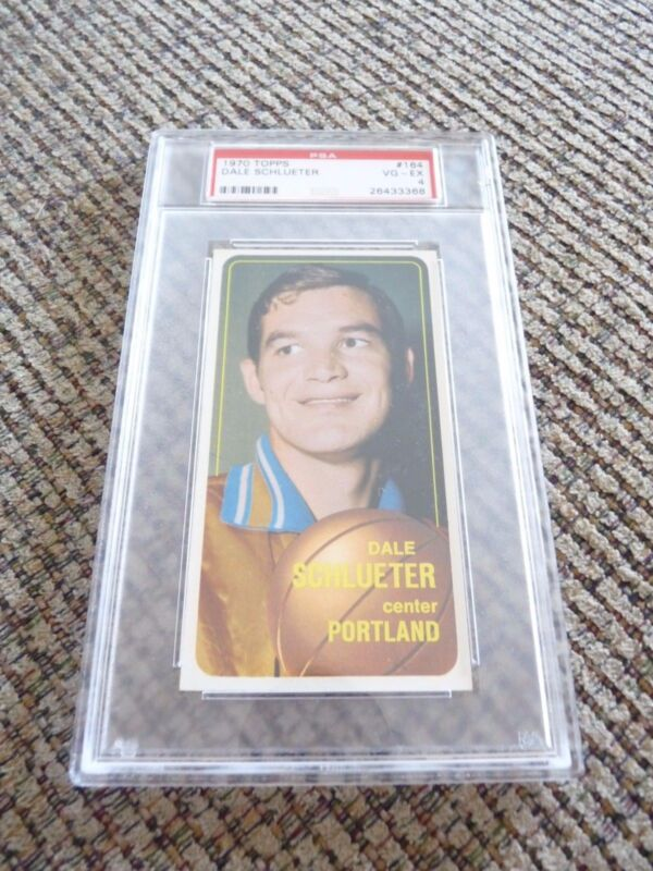 Dale Schlueter 1970 Topp Tall Boy #64 Basketball Card PSA Graded Slabbed VG-EX 4