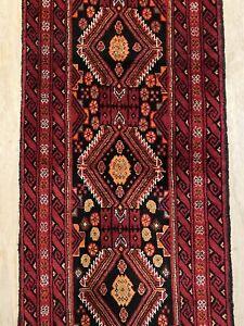 2m Persian Handmade Balouchi Nomadic Runner Rug