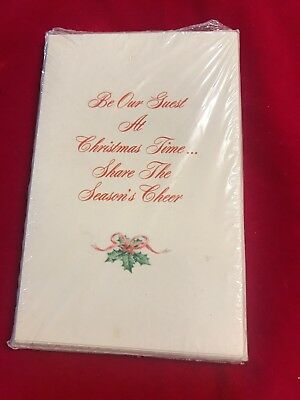 Vintage American Greetings Invitation Cards CHRISTMAS Holiday SEALED 1 pack of 8
