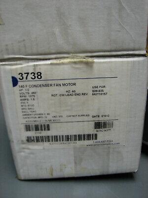 Emerson 12 Hp Electric Motor 460v 1075 Rpm Cw 48y 3738