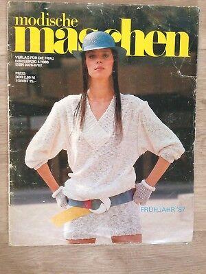 Modische Maschen 4/ 1986 Frühjahr 87 Strick Anleitungen Verlag für die Frau DDR  - Modisch Frühjahr