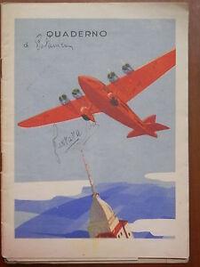 Vecchio-quaderno-scolastico-epoca-fascista-aereo-SAVOIA-MARCHETTI-SM74-I-URBE-di