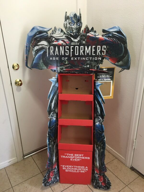 Transformers Age Of Extinction DVD Movie Display Standee Auction Finds 702