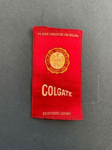 "VINTAGE CIGARETTE ""COLGATE"" COLLEGE SILK BY EGYPTIENNE LUXURY TOBACCO"