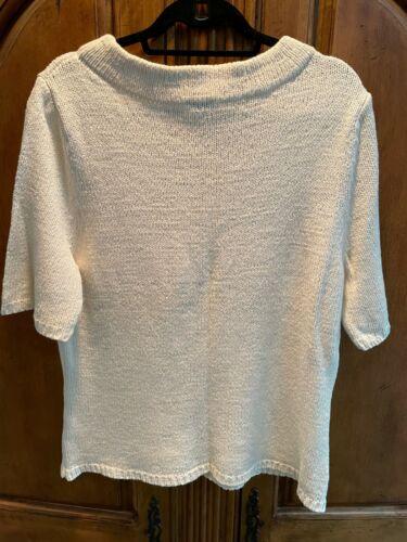 Talbots Short Sleeve Beige Sweater Size XL NEW