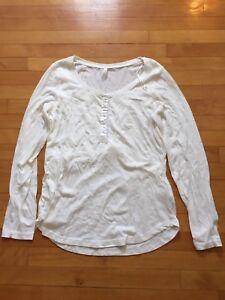 Thyme maternity size large nursing pyjama top - new