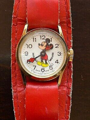 Walt Disney Vintage Mickey Mouse Bradley Swiss Made Child's Watch 1970s