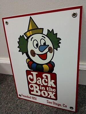 Jack In The Box old logo Sign ... Restaurant Fast Food