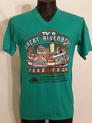 Vtg New Orleans Great RiverBoat Road Race Tee M 80's Running Usa T Shirt