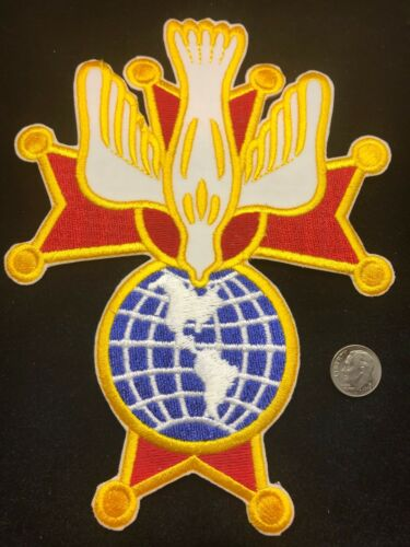 """2 KNIGHTS OF COLUMBUS -  4th Degree Embroidered Patches  7"""" H  K of C"""