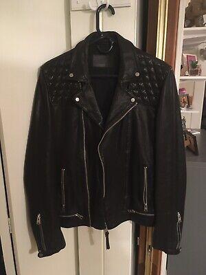 All Saints Conroy Leather Jacket Men's Medium