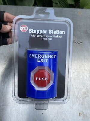 Sti Stopper Station Emergency Exit Power Push Button Ss-2408ex
