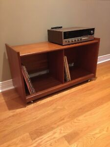 Teak Record Cabinet / Tv Stand -  Mid Century Modern